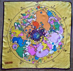 Peter Max Zodiac Scarf  I have one, but mine has a white background