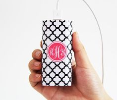 #acycshop Quatrefoil Monogram Portable Power Bank Battery Charger for iPhone and Samsung