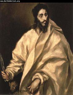 """El Greco: """"St Bartholomew."""""""