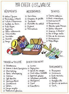 The checklist to print for packing - Confidential .- La check-list à imprimer pour faire sa valise – Confidentielles The checklist to print for packing – Confidential - Weekly Log, Europa Tour, Do It Yourself Baby, Camping Checklist, Teacher Checklist, Dorm Checklist, Checklist Template, Travelling Tips, Traveling