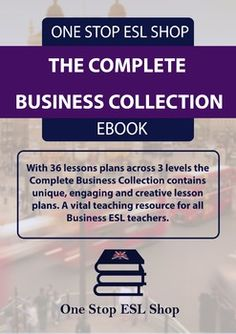 This is the complete collection Business English course book level 1 to Consisting of 36 business lesson plans and providing over 50 hours of teaching materials, these course books are a vital resource for your business classes. Esl Lesson Plans, Teacher Lesson Plans, Esl Resources, School Resources, Importance Of Time Management, Esl Lessons, English Lessons, English Course, Teaching Materials