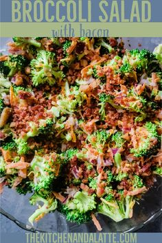 Easy to make this broccoli salad with bacon is a cookout classic! It has a sweet and tangy dressing but yet slightly salty from bacon, making it a delicious summer salad. #broccolisaladwithbaconandcheese #sweetbroccolisalad #cookoutsidedishes #cookoutsalad Broccoli Salad Bacon, Fresh Broccoli, Broccoli Recipes, Cauliflower Recipes, Vegetable Recipes, Salad Recipes, Dishes To Go, Main Dishes, Easy Salads To Make
