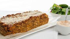 Vegetarian Pumpkin Lentil Loaf w Quinoa