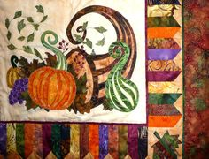 detail from Thanksgiving round robin quilt posted on Sue Garman's blog