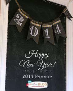2014 Happy New Year Printable Banner