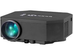 SceneLights Mini-LED-Beamer LB-4001.mini mit 200 Lumen & Media-Player