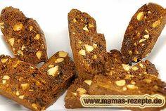 Schokoladen - Cantuccini   Mamas Rezepte - mit Bild und Kalorienangaben