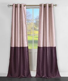 Purple Two-Tone Sabra Faux Silk Curtain Panel Something like this for the bedroom- need two panels