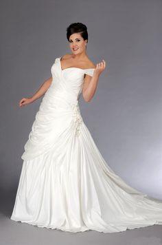 A-Line wedding dress.