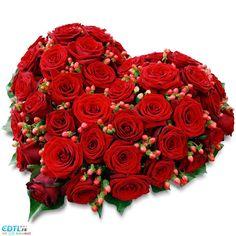 Image de coeur en roses