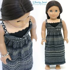 Another version of the Liberty Jane Maxi Dress made from fabric found at Britex Fabrcs in SF. http://www.libertyjanepatterns.com/2012/03/maxi-dress-doll-clothes-pattern.html