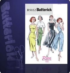 Butterick 5032 from Butterick patterns is a Retro \'52 sewing pattern