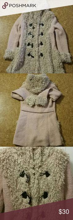 Coat Thin coat brand new! Such cuteness  Size large but fits like a medium. Jackets & Coats Pea Coats