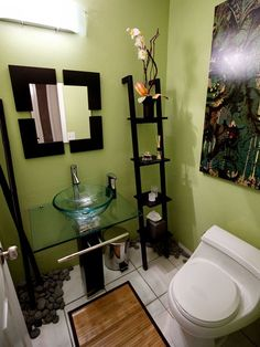 small bathroom idea. Totally zen!