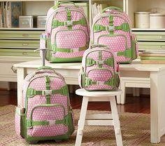 I love the Mackenzie Pink Dot Backpacks on potterybarnkids.com