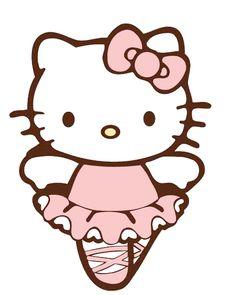 .hello kitty bailarina en goma eva