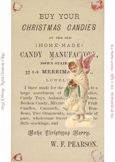 Vintage Digital Christmas Collages Day 8 – 9 – 10