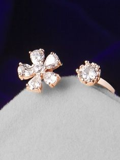 Ct Round Diamond Stunning Floral Wedding Band in Rose Gold Stock Clearance Sale, Diamond Earrings, Stud Earrings, 18k Rose Gold, Round Diamonds, Floral Wedding, Wedding Bands, Stone, Jewelry