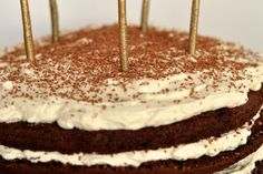 devil food cake with mascarpone frosting