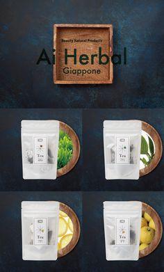 Ai Herbal Giappone by Ai Imai   Package design   Japanese Organic Tea   Designed by Masataka Izawa / VZIM