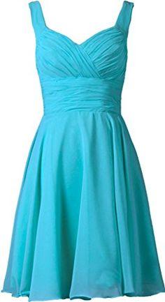 ANTS Women's V-neck Chiffon Bridesmaid Dresses Short Prom Gown Size 8 US Turquoise ANTS http://www.amazon.com/dp/B00O6VZWUM/ref=cm_sw_r_pi_dp_3FZGvb1185N7V