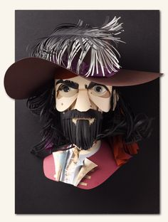 Interview with Paper Sculpture Artist Sher Christopher | Click through for full post! #paper #art #sculpture #pirate