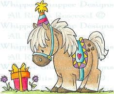 Party Pony - Birthday Images - Birthday - Rubber Stamps