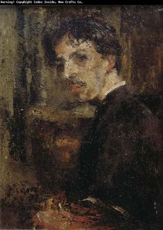 James Ensor. Self-portrait (1879).