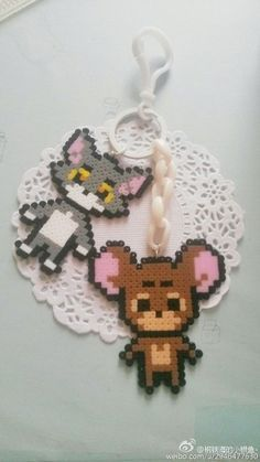 Tom and Jerry perler beads
