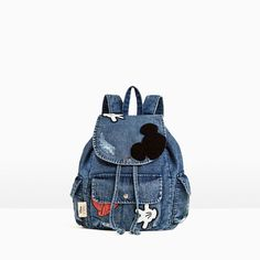 MICKEY MOUSE DENIM BACKPACK