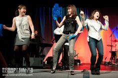 Rodan + Fields CEO Lori Bush can't help getting up on stage with the Doctors to celebrate a successful Leadership Summit