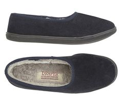 - Available in Navy and Cherry, a rubber soled version of our original classic shearling slipper. Made with a suede upper, shearling lining and durable rubber sole for indoor and outdoor use. Best Slippers, Womens Slippers, Shearling Slippers, Sheepskin Slippers, Classic Style, Cherry, Slip On, Indoor, Interior