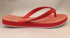 Tommy Hilfiger Women's Orange Rosewood 2 Beach Sandals Slides Flip Flops 6 #TommyHilfiger #FlipFlops #Beach