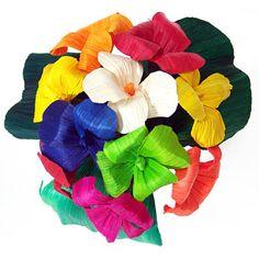 Cinco de Mayo Decorations Multicolor  Hortencia Cornhusk Flowers Image