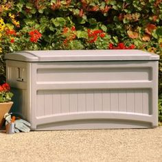 Suncast DB7000W Saxon Premium 73 Gallon Deck Box with Wheels