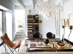 Butterfly chair+Eames RAR+ Zettel'z by Ingo Maurer.