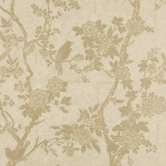 Marlowe Floral - Vintage Gold - Toiles - Wallcovering - Products - Ralph Lauren Home - RalphLaurenHome.com