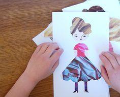 DIY: Fashion Paper Dolls - giddygiddy