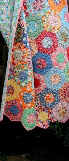 Baby Girl Quilt / Handmade / Nursery / Crib Bedding / Ready to Ship by flora