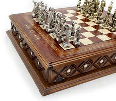 Istanbul Chess Set | Rosewood, Mother of Pearl | Metal Chess Figures