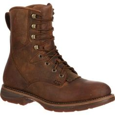 Choose the Workin' Rebel™ by Durango® Steel toe Waterproof Western Lacer Boot. Contoured, ventilated, removable cushion TPE footbed for comfort. Bike Boots, Mens Shoes Boots, Mens Boots Fashion, Kid Shoes, Men's Shoes, Combat Boots, Fashion Men, Fashion Clothes, Fashion Outfits