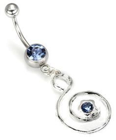 Beautiful Light Sapphire Navel Ring by bodycreation on Etsy, $6.99
