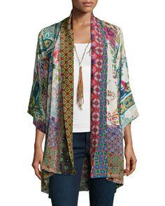 Johnny Was Collection Dream Kimono Printed Jacket