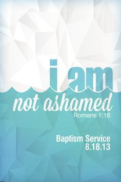5th Annual Baptism Service - graphic will be used for promotion, day-of pieces and tshirts