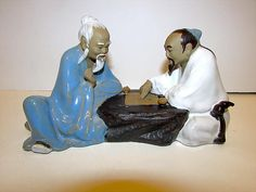 Vintage Mid Century Glazed Clay Chinese Oriental Asian Shiwan Art Pottery Figurine