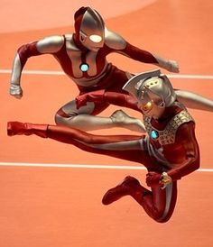 Japanese Science and Fiction charactors Ultra Seven and Ultraman perform during the men's volleyball qualifying tournament match between Japan and. Live Action, Japanese Superheroes, Robot Cartoon, Romantic Comedy Movies, Martial Arts Movies, Movies And Series, Mecha Anime, Adventure Movies, Fantasy Movies
