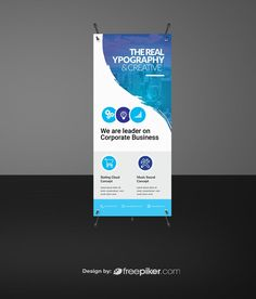 Simple Rollup Banner Graphic Design Tips, Print Design, Roller Banners, Rollup Design, Exhibition Banners, Banner Design Inspiration, Pop Up Banner, Banner Stands, Digital Signage