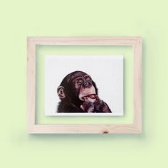 WATERCOLOR MONKEY PRINT - Unframed  -This is a high-quality digital print on…