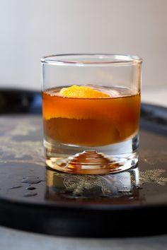 Kyushiki (Japanese Old-Fashioned): a sweet, gingery twist on the classic Old-Fashioned, the Kyushiki takes the sweet-smoky notes of bourbon and amplifies them, adding heat and the flavor of fall baking spices with muddled ginger and kuru sato (also known as black sugar).