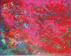 Acrylic Painting Canvas Art Original ABSTRACT CONTEMPORARY ART Floral Painting Textured Landscape Wall Decor 12x10x3/4 (30cmx24cmx1,8cm)